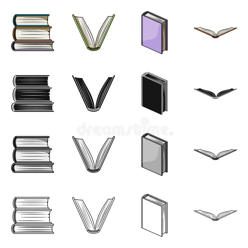 图书馆和课本标志传染媒介设计  图书馆和学校储蓄传染媒介例证的汇集 库存例证