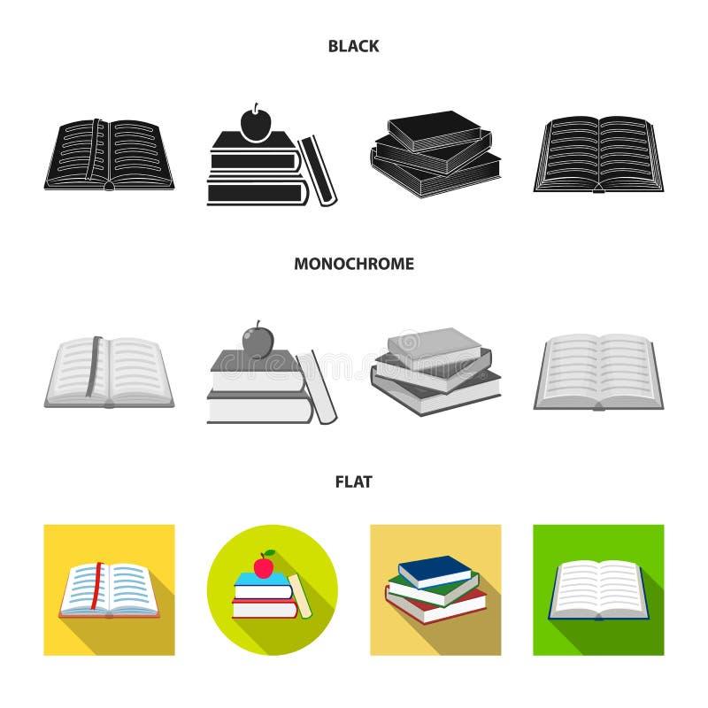 图书馆和课本标志的传染媒介例证 图书馆和学校储蓄传染媒介例证的汇集 向量例证