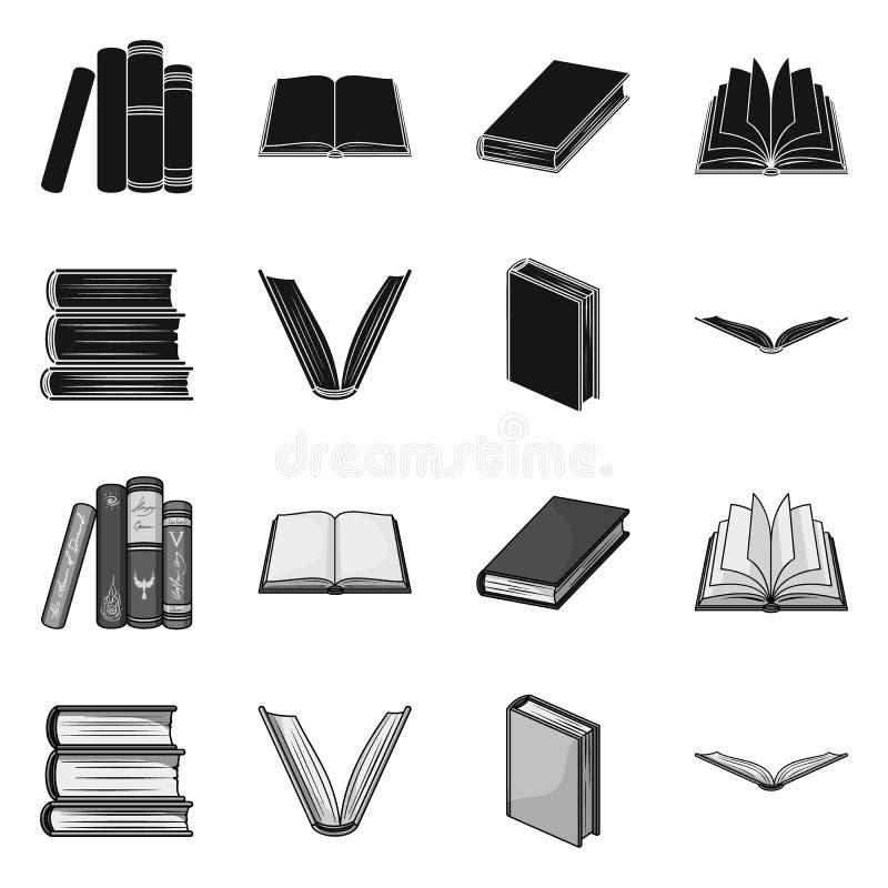 图书馆和课本标志的传染媒介例证 设置图书馆和学校储蓄传染媒介例证 库存例证
