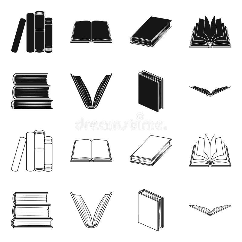图书馆和课本标志被隔绝的对象  图书馆和学校股票简名的汇集网的 向量例证