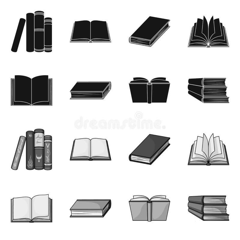 图书馆和课本标志被隔绝的对象  设置图书馆和学校储蓄传染媒介例证 库存例证