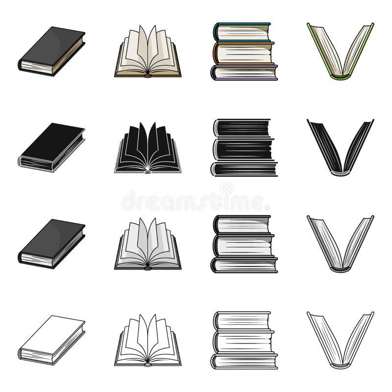 图书馆和课本象传染媒介设计  设置图书馆和学校股票的传染媒介象 向量例证