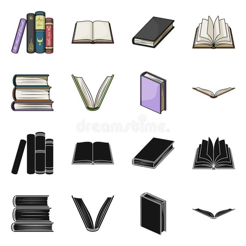 图书馆和课本象的传染媒介例证 设置图书馆和学校储蓄传染媒介例证 向量例证