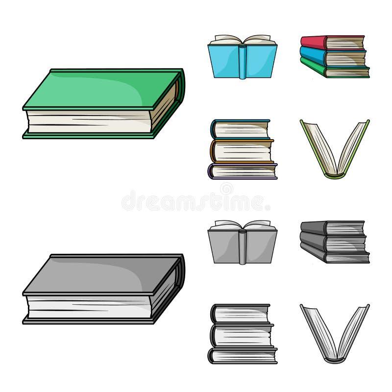 图书馆和课本象被隔绝的对象  图书馆和学校股票的传染媒介象的汇集 向量例证