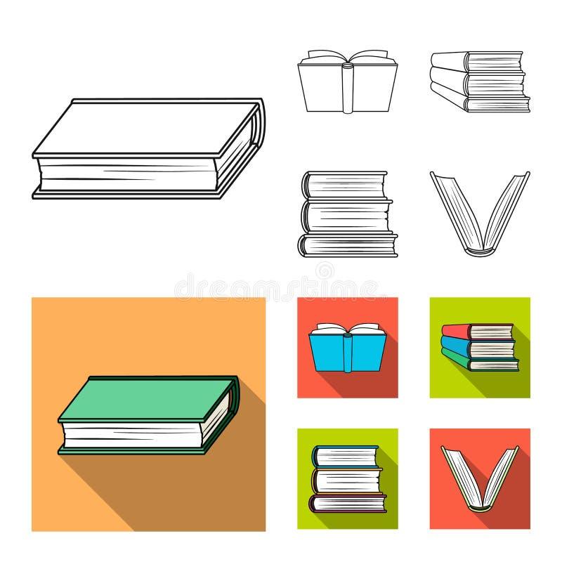 图书馆和课本象被隔绝的对象  图书馆和学校股票的传染媒介象的汇集 库存例证