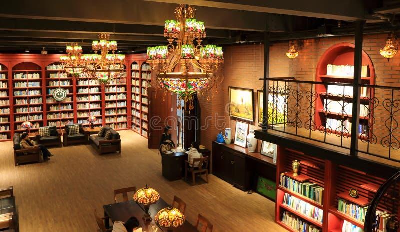 图书馆在大学 免版税库存照片