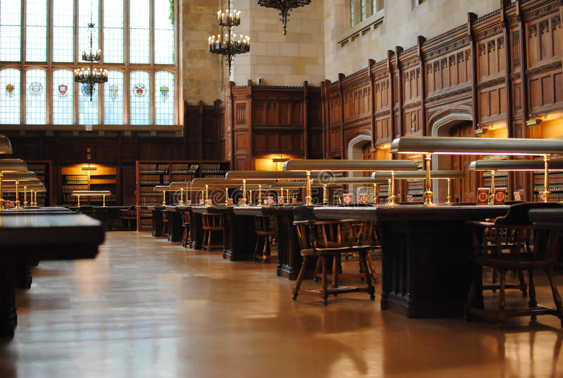 图书馆大学 库存照片
