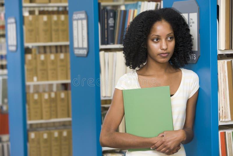 图书馆学员大学工作 免版税图库摄影