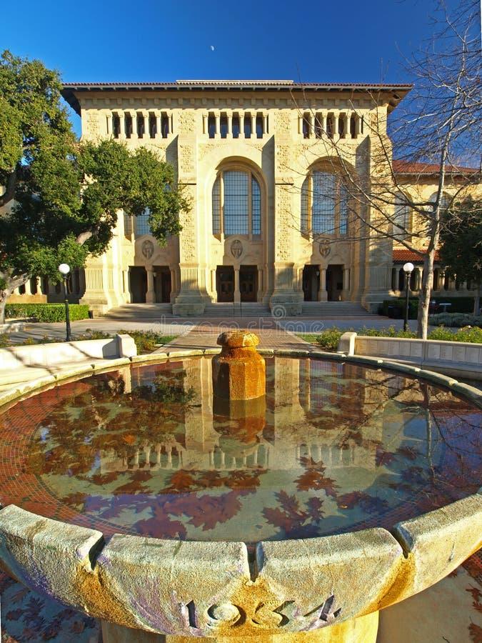 图书馆斯坦福大学 免版税库存照片