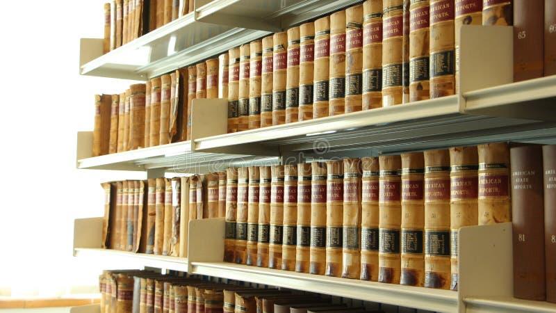 图书馆架子 免版税库存照片
