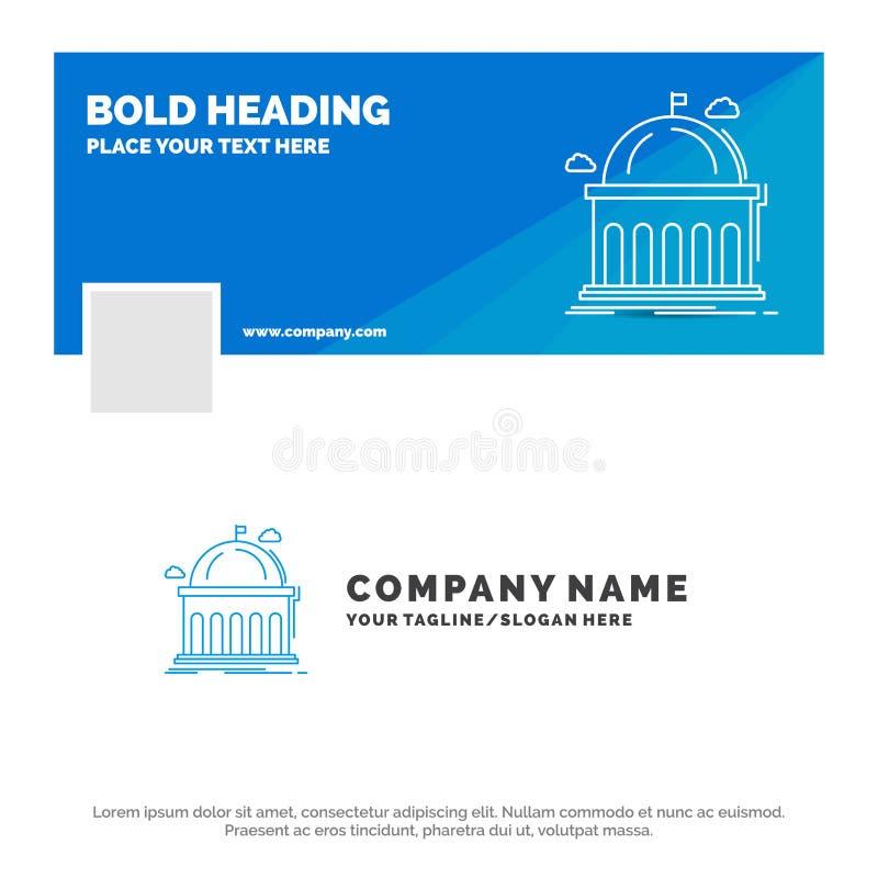 图书馆的,学校,教育,学会,大学蓝色企业商标模板 r r 库存例证