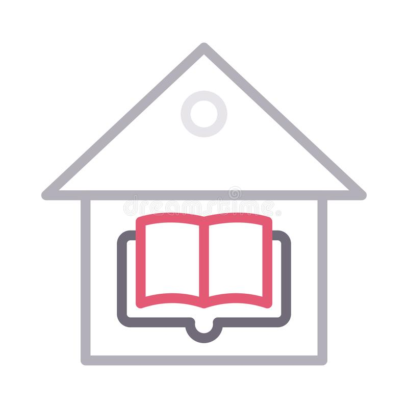 图书馆种族分界线传染媒介象 向量例证