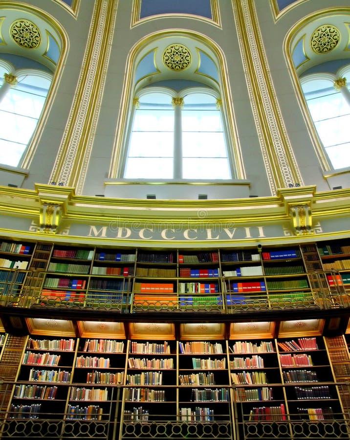 图书馆维多利亚女王时代的著名人物 免版税库存照片