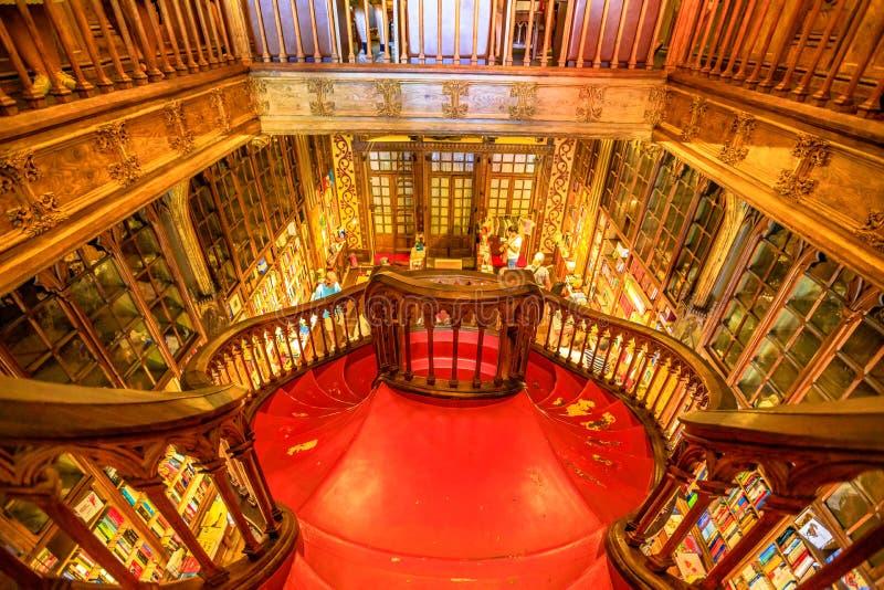 图书馆莱洛楼梯  库存图片