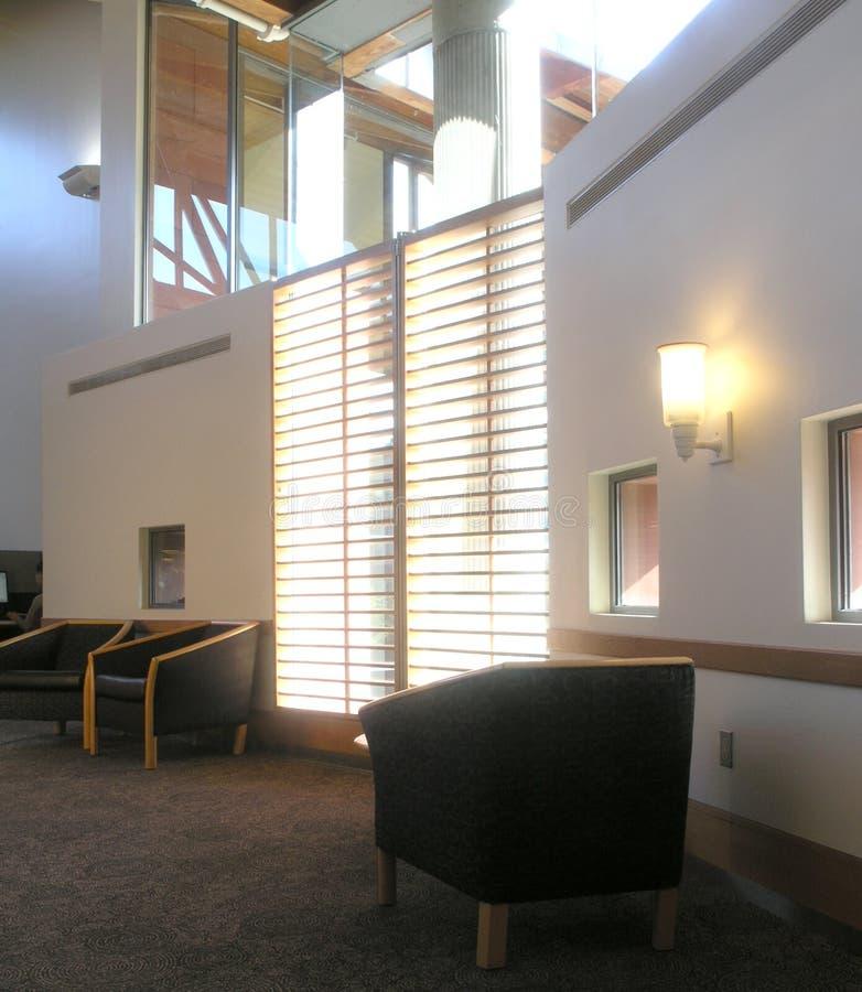 图书馆视窗 库存图片