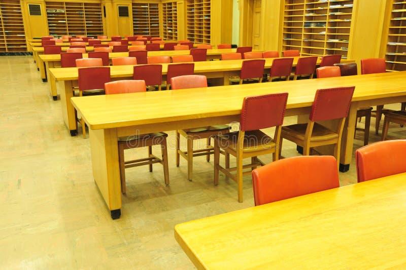 图书馆阅览室 图库摄影