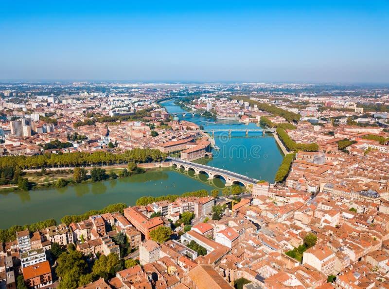 图卢兹空中全景,法国 免版税库存图片