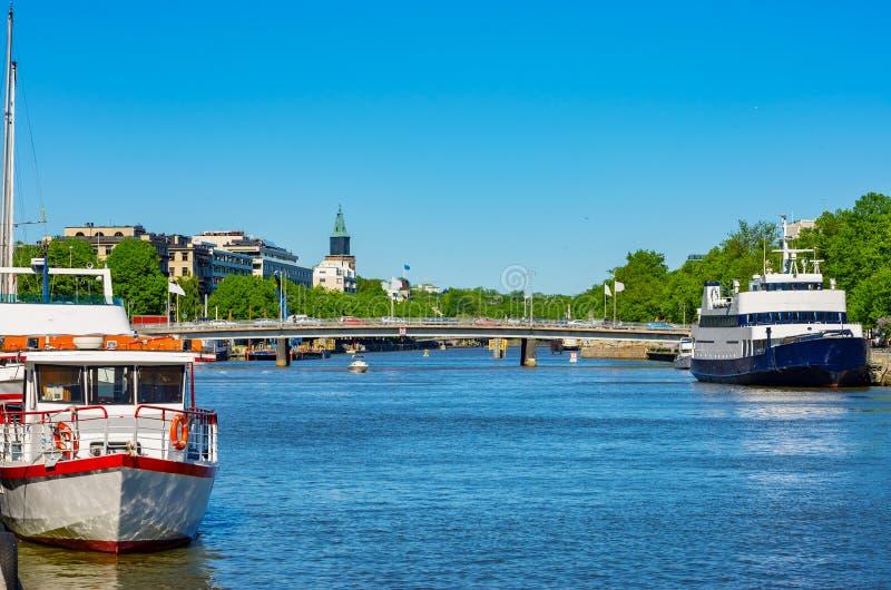 图尔库都市风景  芬兰 免版税图库摄影