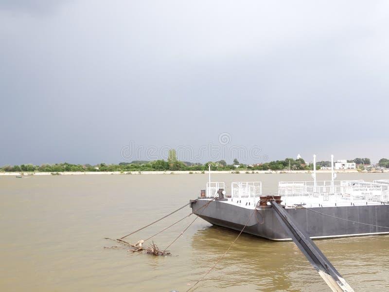 图尔恰港口,多瑙河三角洲罗马尼亚 库存图片