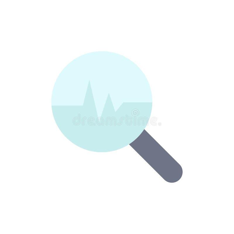 图形、信息图形、图形、搜索图表平面颜色图标 矢量图标横幅模板 皇族释放例证