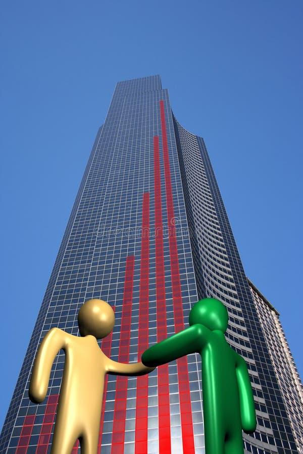 图形信号交换摩天大楼 向量例证