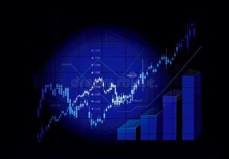 图形市场股票 皇族释放例证