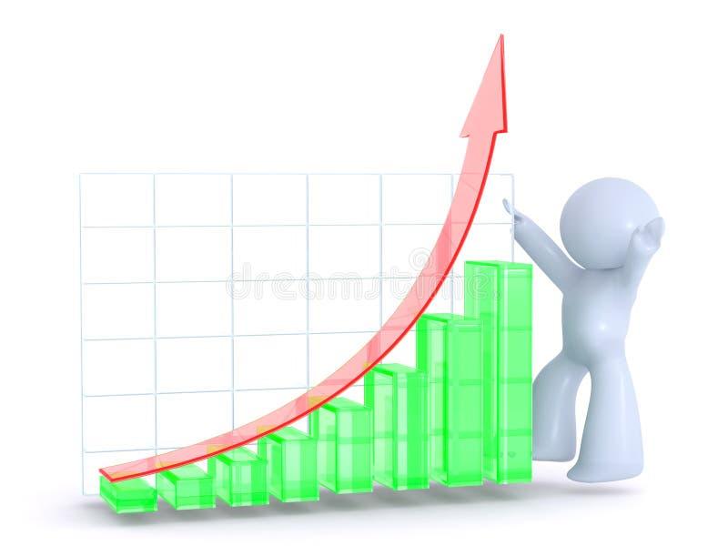 图形绿色增长红色 皇族释放例证