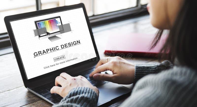 图形设计例证书刊上的图片概念 免版税图库摄影