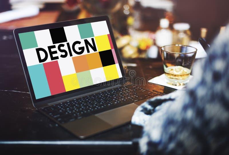 图形设计例证创造性的视觉概念 免版税图库摄影