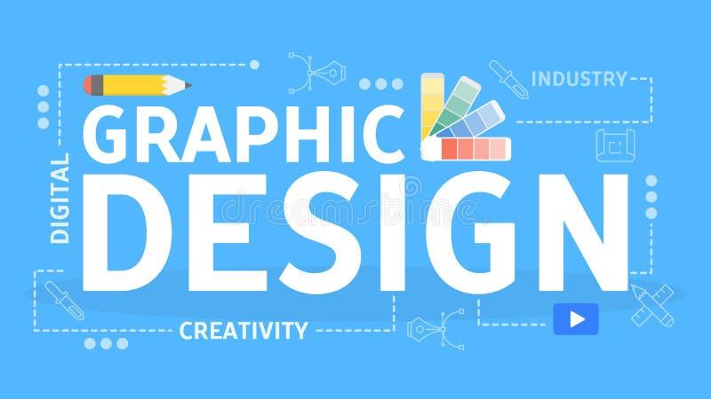 图形设计概念 数字艺术想法  库存例证
