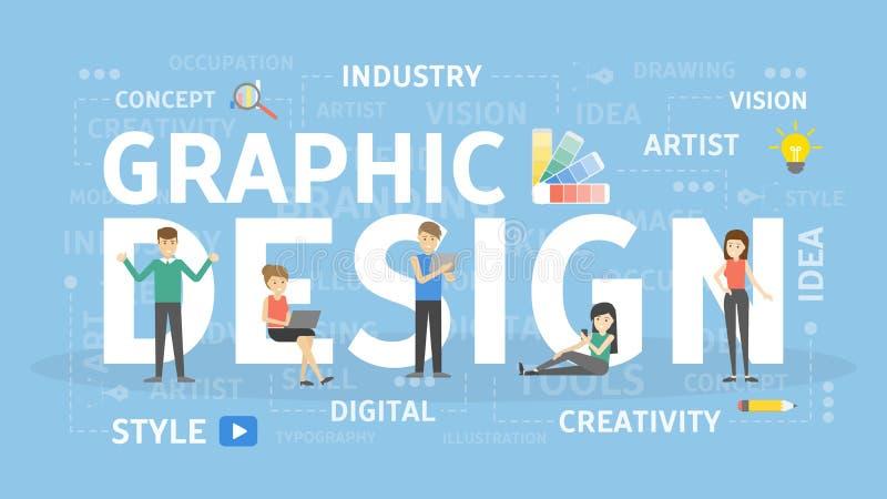 图形设计概念 皇族释放例证