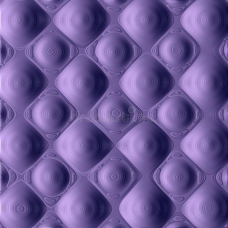 图形设计的传染媒介元素 与通常重复的几何栅格、紫外和蓝色的一个抽象样式 皇族释放例证