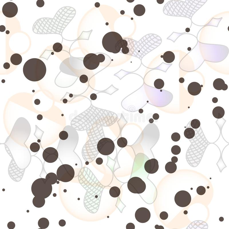 图形设计的无缝的样式 库存例证
