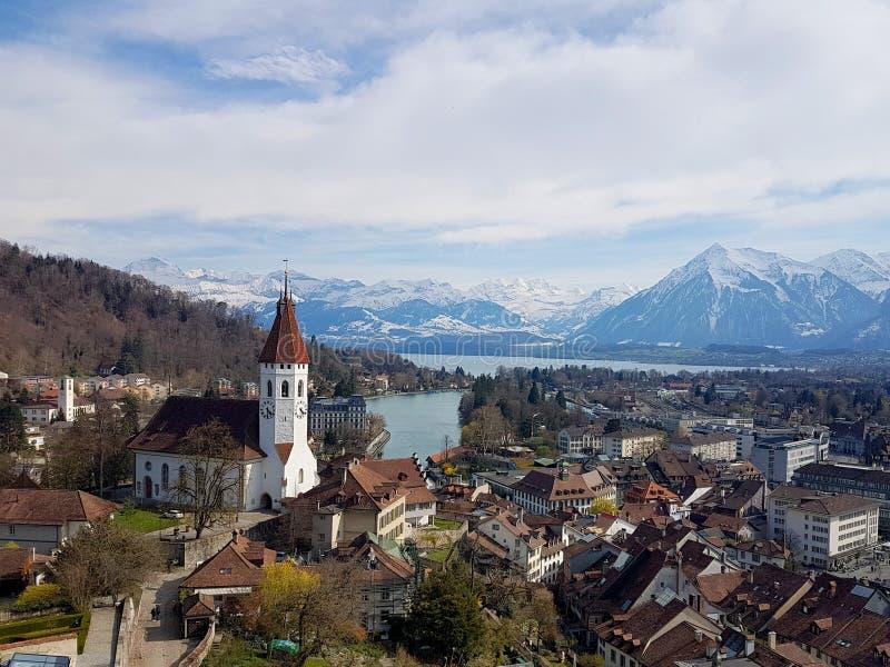 图恩从城堡的市视图 库存图片