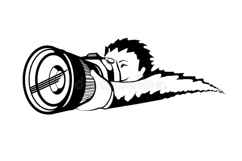 图斋戒摄影师 库存图片