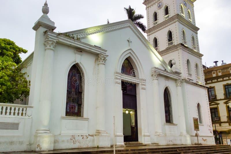 图斯潘的,墨西哥老教会 免版税图库摄影