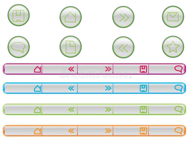 图标万维网 库存例证