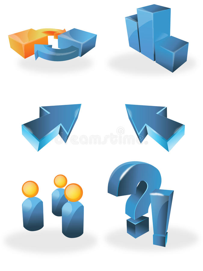 图标万维网 向量例证