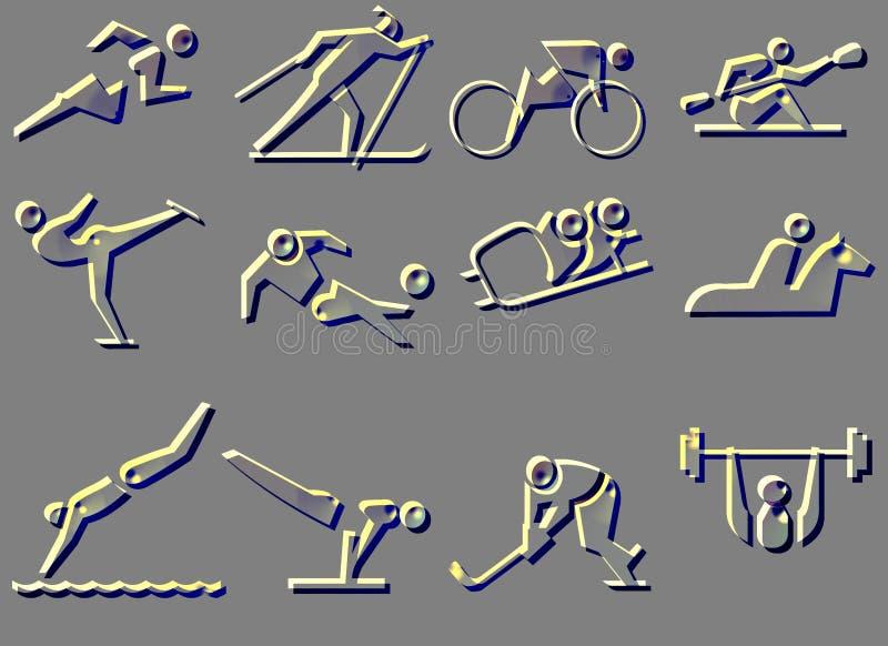 图标体育运动符号 皇族释放例证