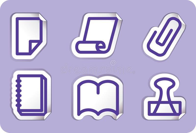 图标例证办公室文教用品向量 向量例证