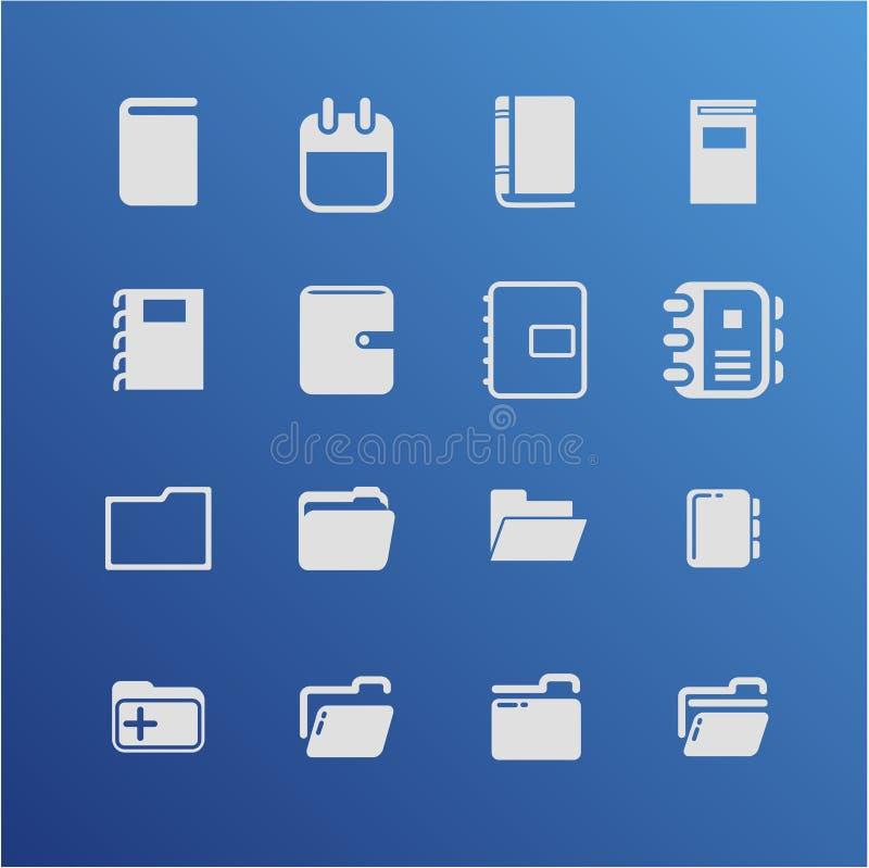 图标例证办公室集合文教用品向量 免版税图库摄影