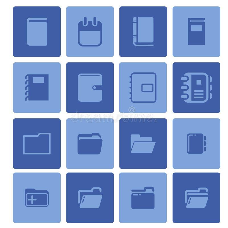图标例证办公室集合文教用品向量 免版税库存图片