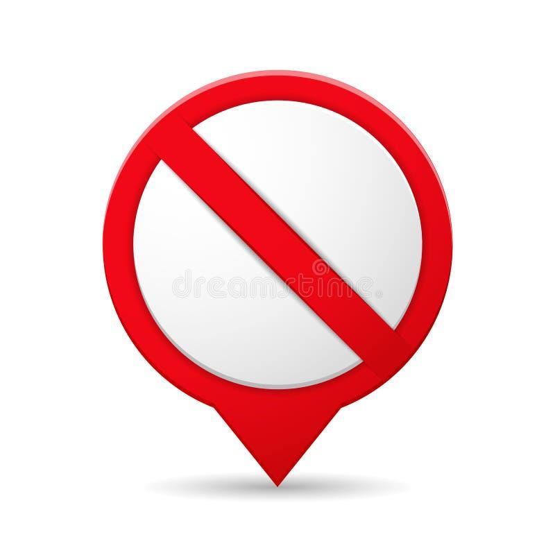 图标例证禁止的路辗符号冰鞋向量 皇族释放例证