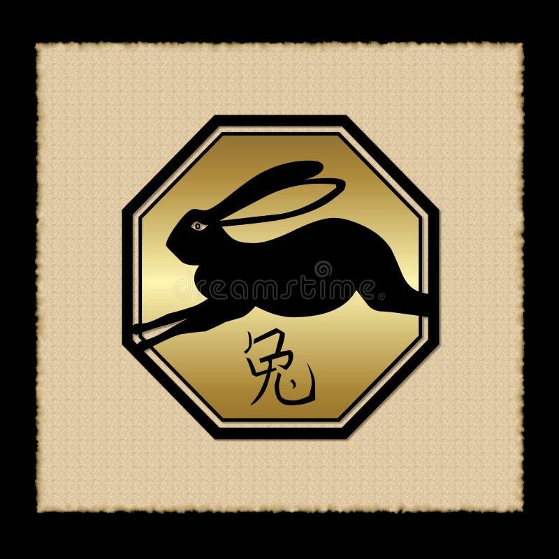 图标兔子黄道带 皇族释放例证