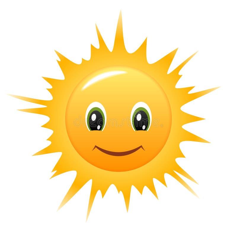 图标兴高采烈的星期日向量 向量例证