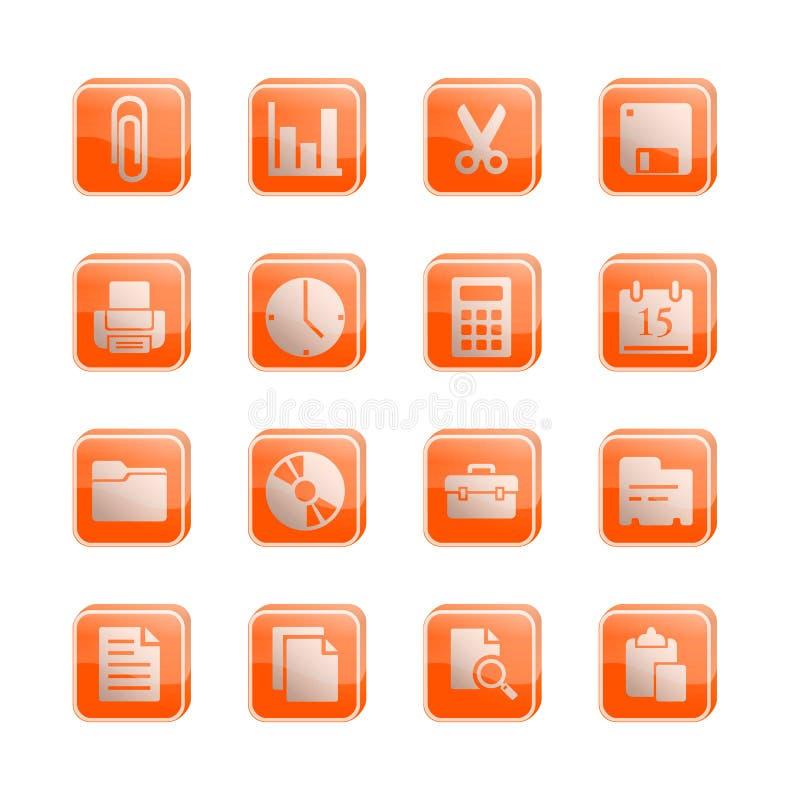 图标办公室系列库存向量 向量例证