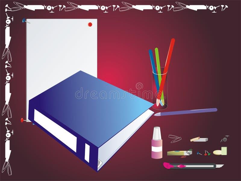 图标办公室集合文教用品 向量例证