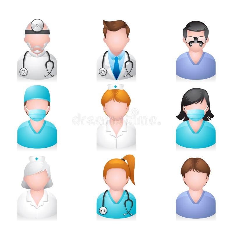 图标医疗人员 向量例证