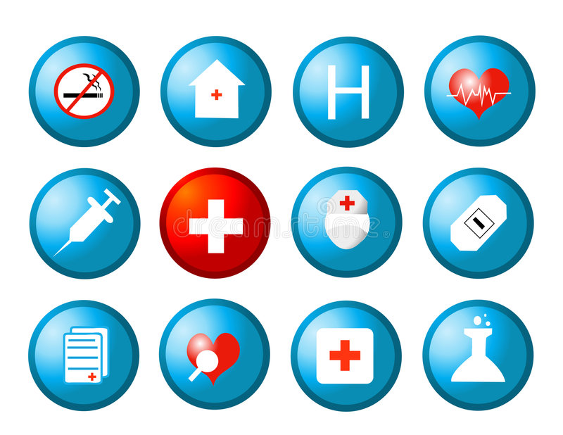图标医疗向量 库存例证
