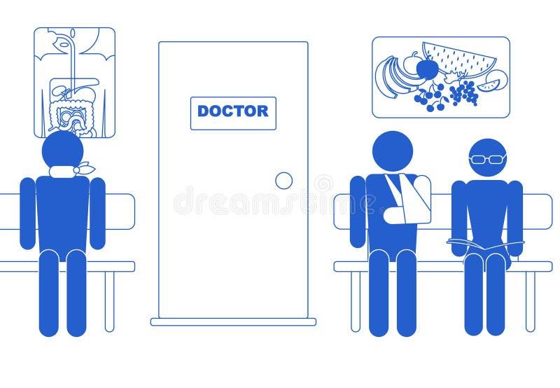 图标医疗空间等待 库存例证